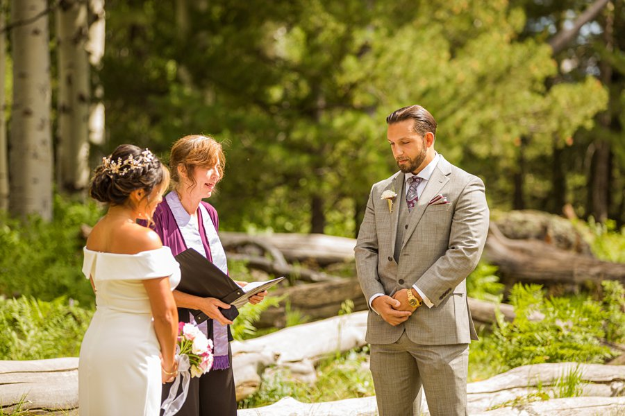 Jeanne-Marie and Rami: Flagstaff Snowbowl Wedding grooms perspective