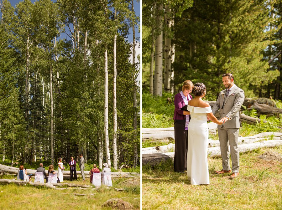 Jeanne-Marie and Rami: Arizona Mountains Wedding aspens forest