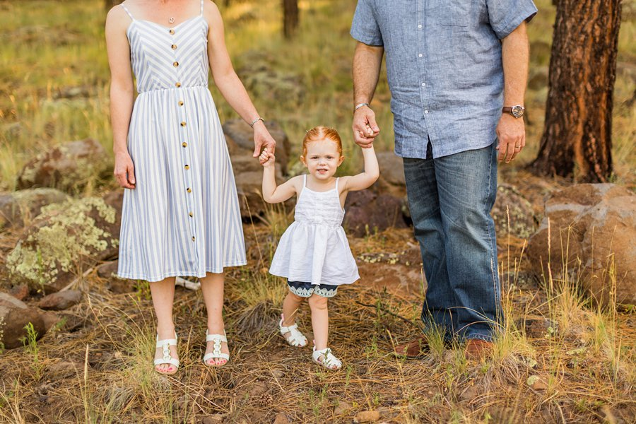 Johnstone Family: Sunflower Arizona Portrait Photographer little girl standing with parents