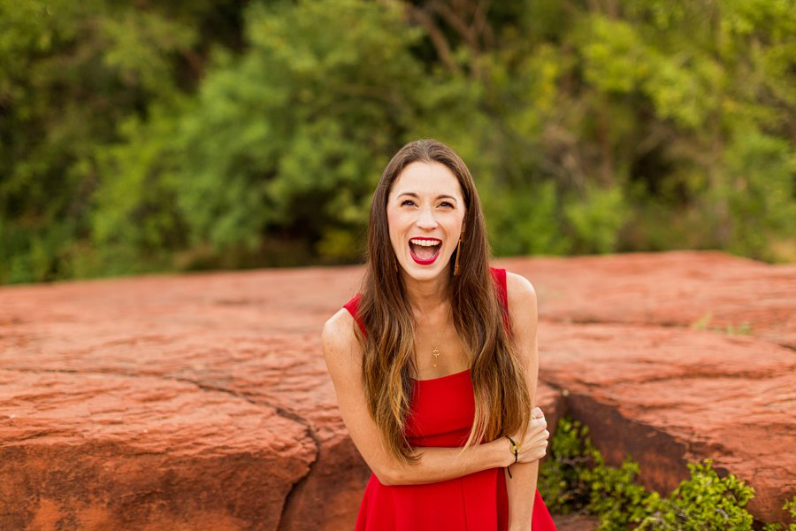 Kathryn: Northern Arizona Portrait Photography best playful poses