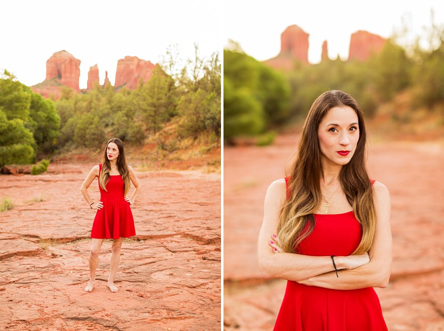 Kathryn: Sedona Personal Brand Session red rocks portrait session