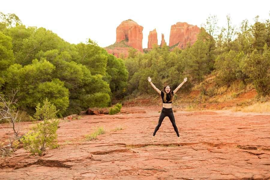 Kathryn: Northern Arizona Portrait Photography jumping for joy