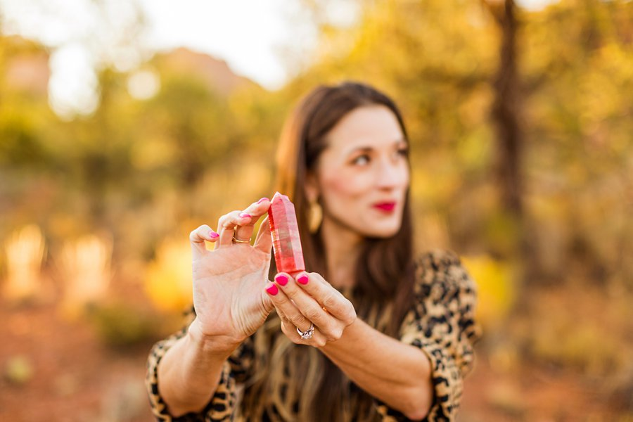 Kathryn: Sedona Personal Brand Session crystals and gems