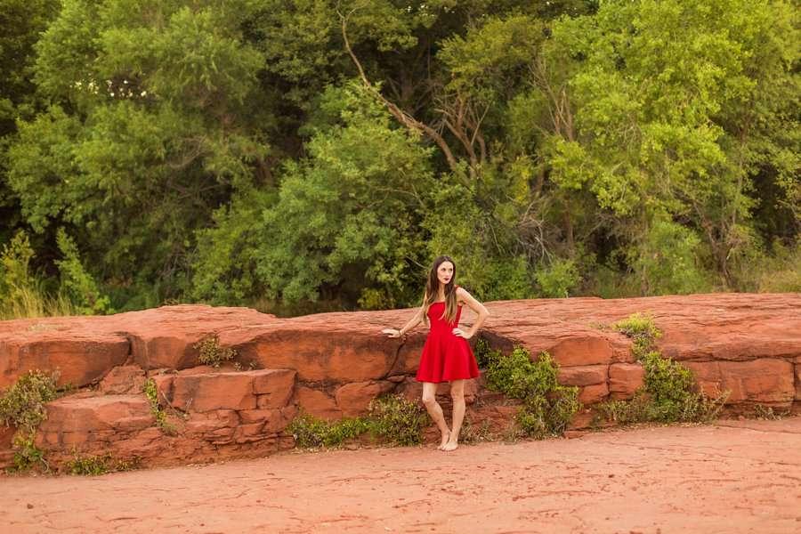 Kathryn: Northern Arizona Portrait Photography woman in nature