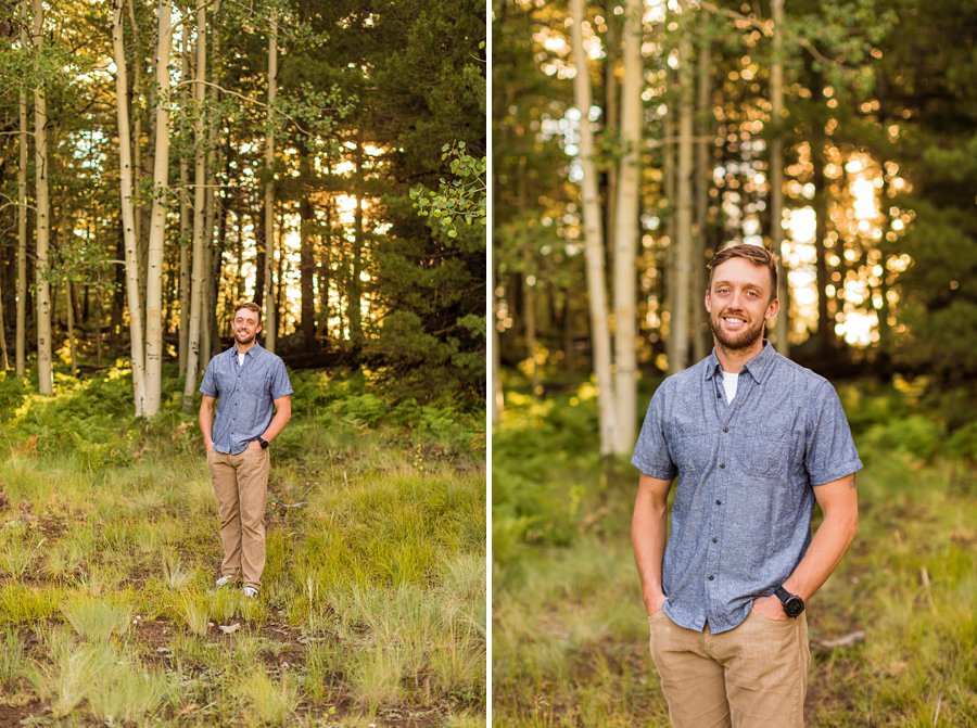 Katie and Rudy: Maternity Photographers Northern Arizona father to be