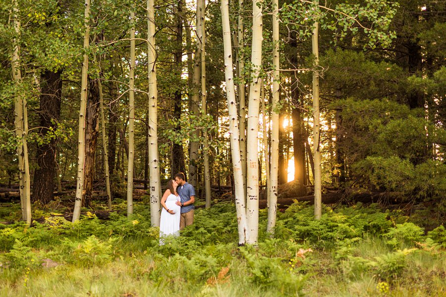 Katie and Rudy: Maternity Photographers Northern Arizona iconic locations in flagstaff