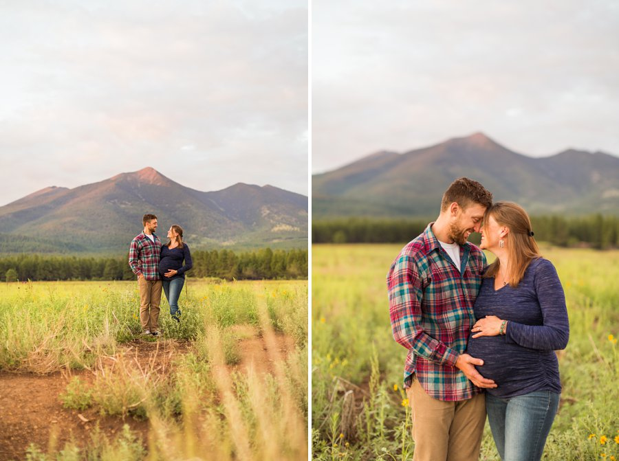 Katie and Rudy: Family Photography Flagstaff AZ mountain views