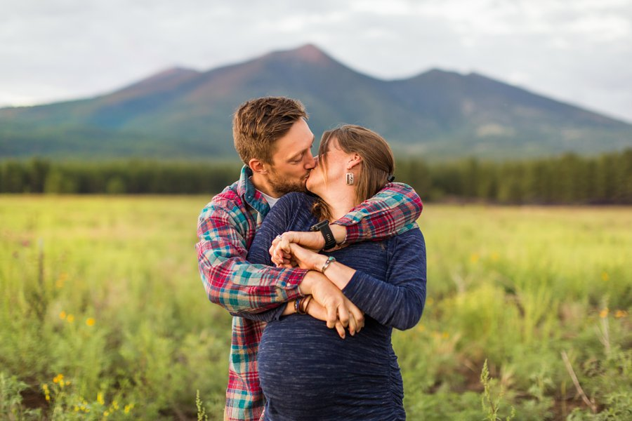 Katie and Rudy: Family Photography Flagstaff AZ mountains and meadows