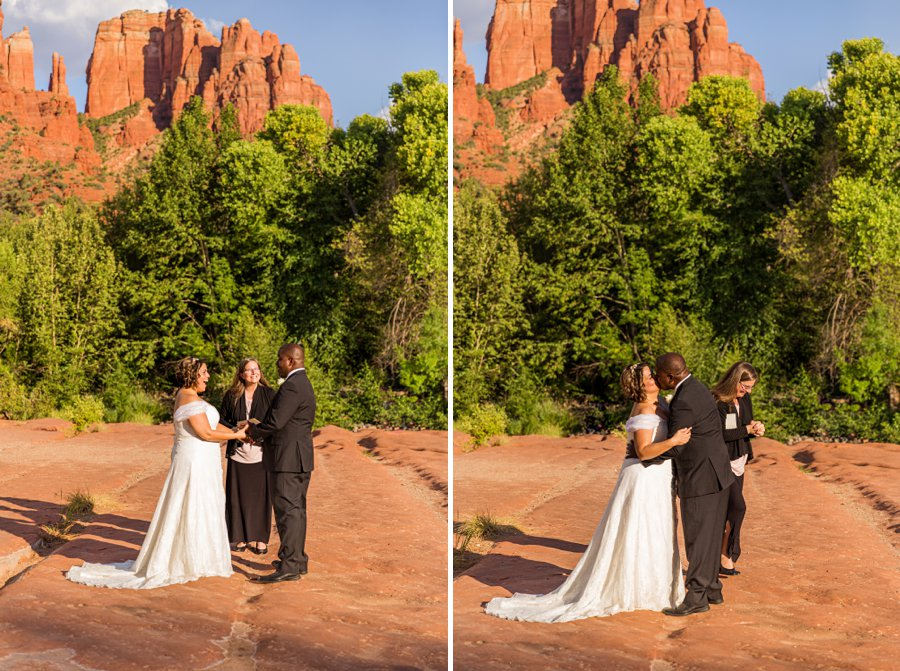 Magda and Charles: Weddings in Sedona colorful and creative