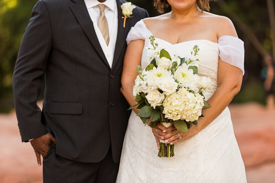 Magda and Charles: Weddings in Sedona best florists