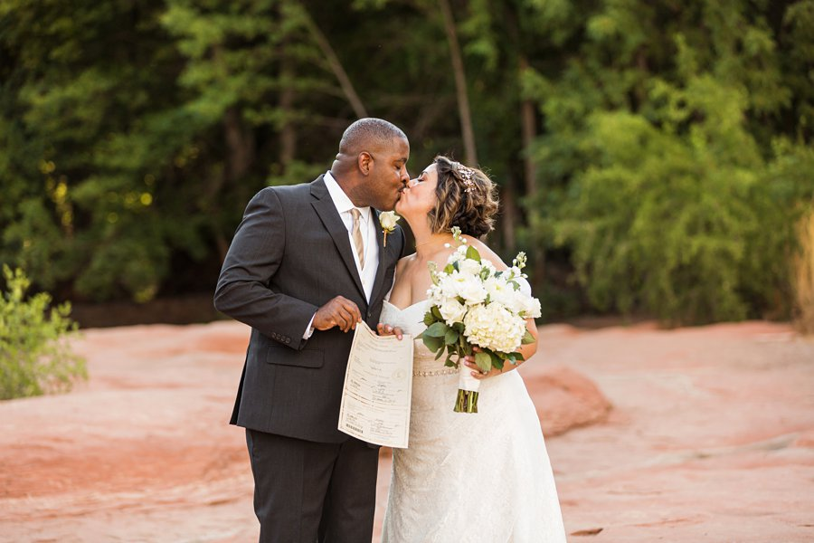 Magda and Charles: Weddings in Sedona voted best in arizona