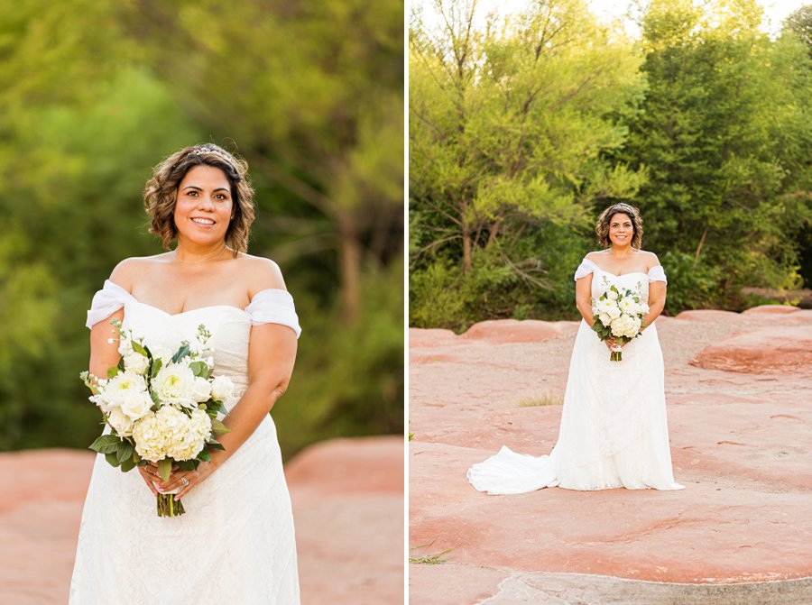 Magda and Charles: Weddings in Sedona the bride
