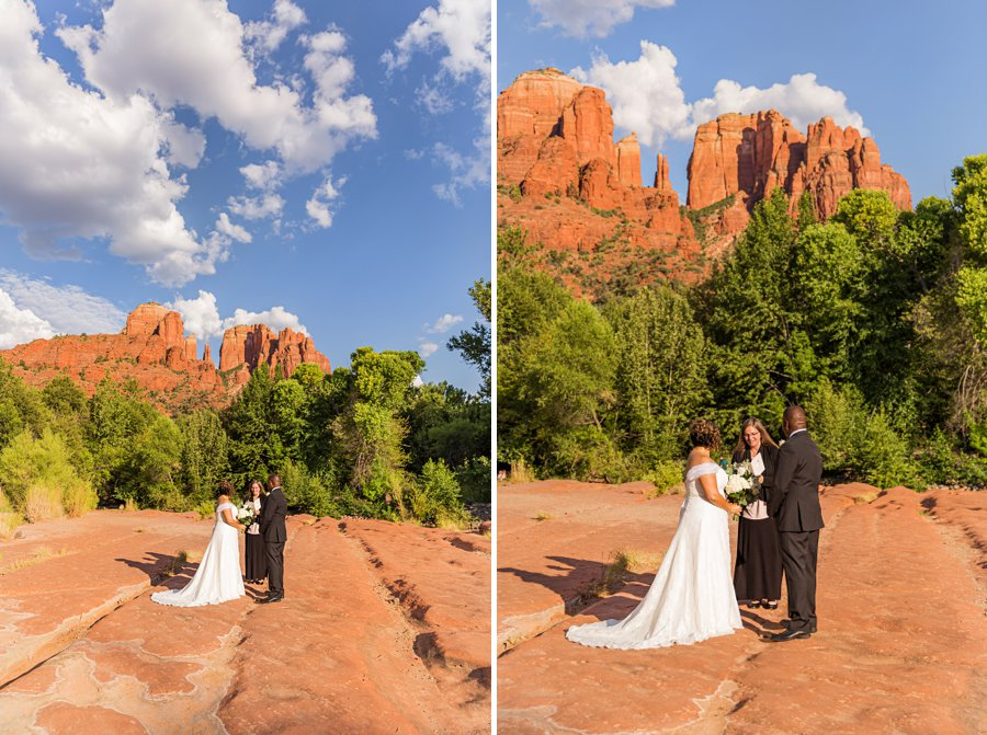 Magda and Charles: Weddings in Sedona cathedral rock