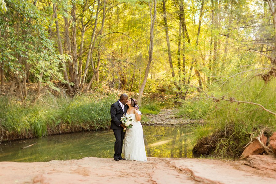 Magda and Charles: Weddings in Sedona creekside elopement locations