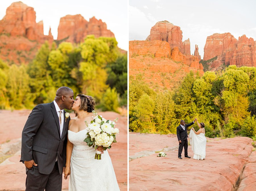 Magda and Charles: Crescent Moon Sedona Elopement most photographed locations in sedona
