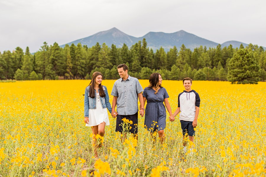 Sunflower Family Photographer Flagstaff: Vesely Family's Mini Session northern arizona