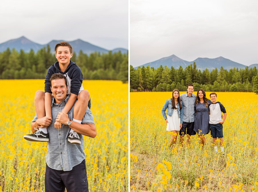 Sunflower Family Photographer Flagstaff: Vesely Family's Mini Session best family poses