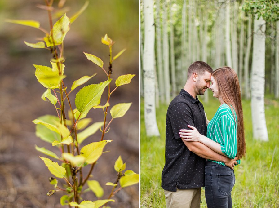 Taylor and Kevin: Lockett Meadow Engagement Session cuddling