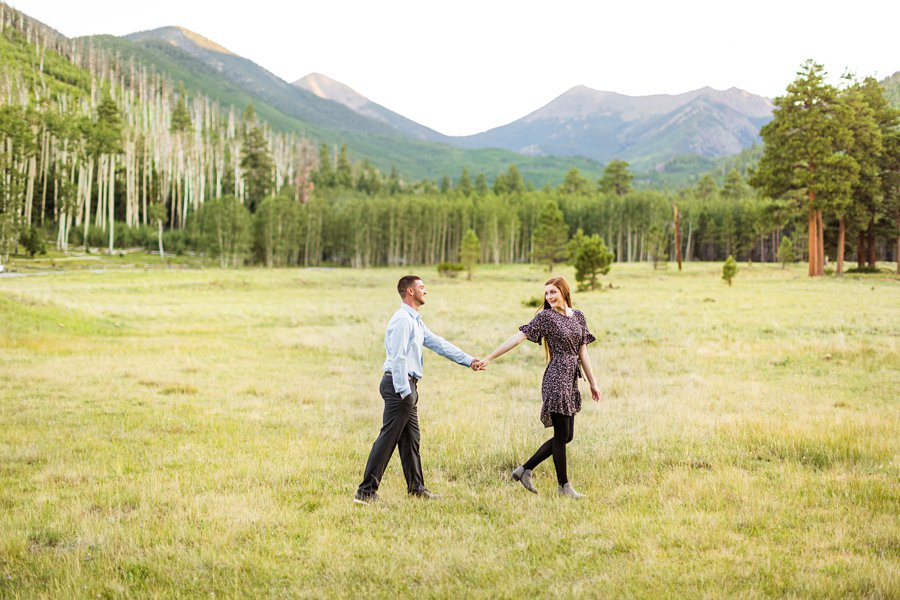 Taylor and Kevin: Flagstaff Arizona Portrait Photography walking together