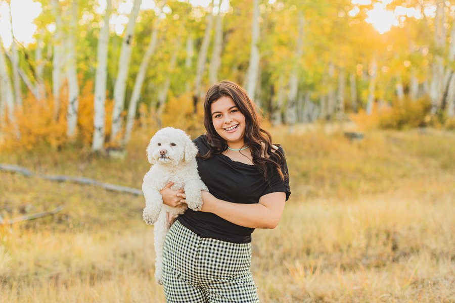Ashley: Northern Arizona Graduation Photographers including your dog in your session