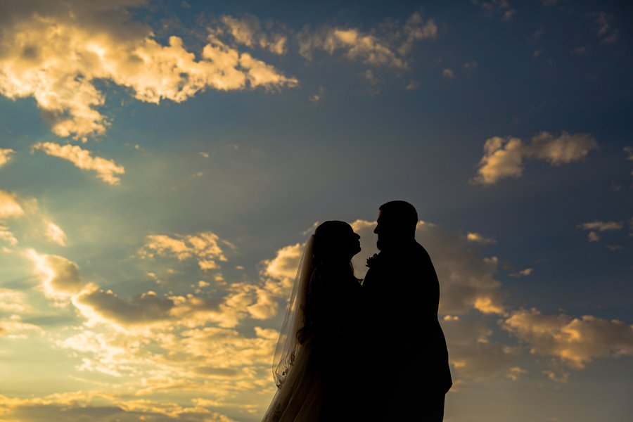Chelsea and Bryan: Elopement Photographers Northern AZ silhouette sunset