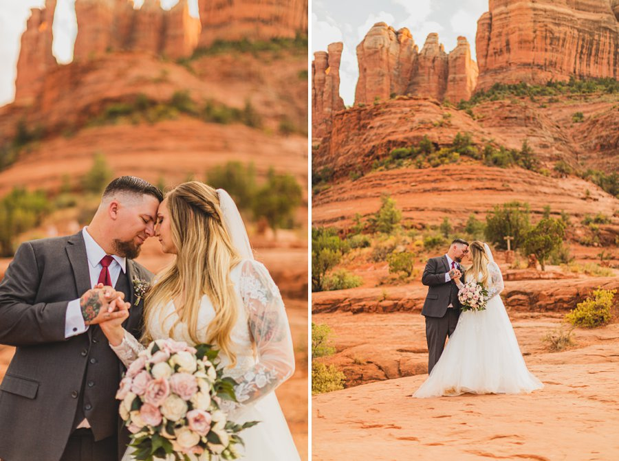 Chelsea and Bryan: Elopement Photographers Northern AZ red rock views