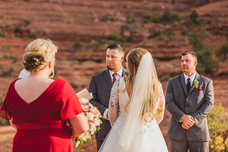 Chelsea and Bryan: Elopement Photographers Northern AZ grooms view