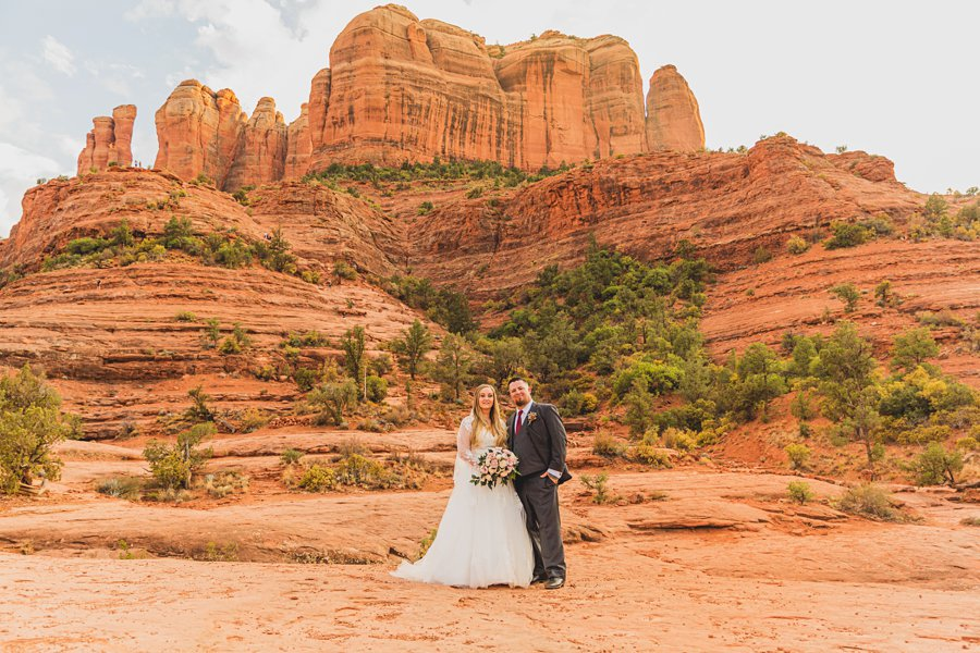 Chelsea and Bryan: Elopement Photographers Northern AZ formal bride and groom