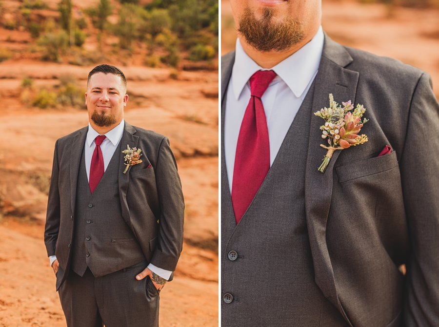 Chelsea and Bryan: Elopement Photographers Northern AZ grooms details