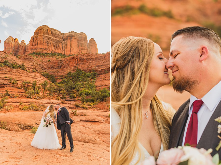 Chelsea and Bryan: Elopement Photographers Northern AZ cathedral rock