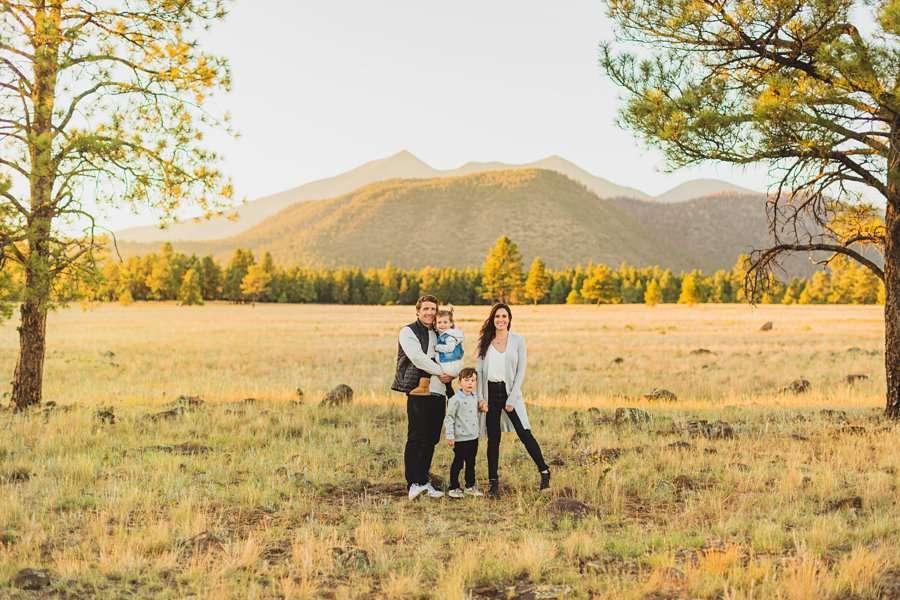 Jacobsen Family: Northern Arizona Portrait Photography mountain views buffalo park