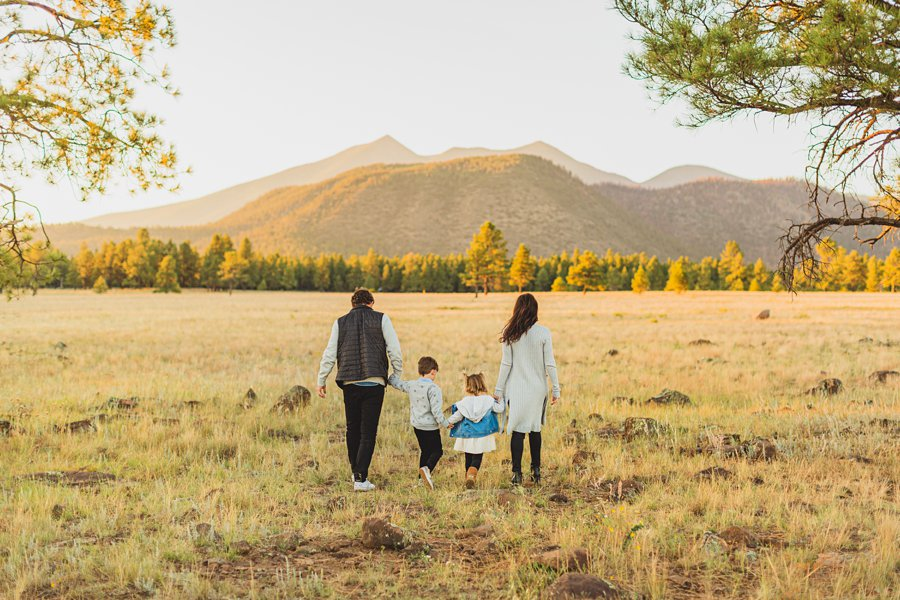 Jacobsen Family: Northern Arizona Portrait Photography walking in the woods