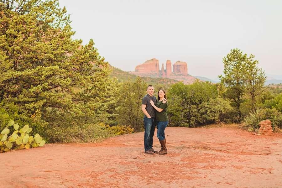 Katie and Matt: Sedona Arizona Engagement Session most scenic locations in northern arizona