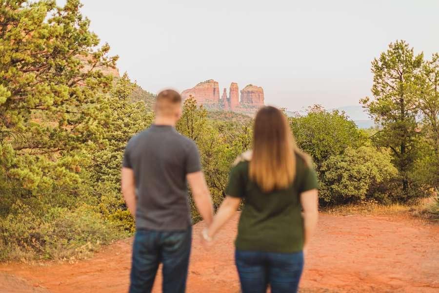 Katie and Matt: Sedona Arizona Engagement Session the landscape