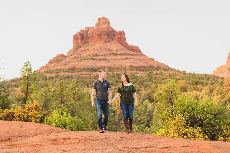 Katie and Matt: Arizona Portrait Photographers walking together