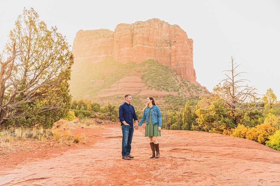Katie and Matt: Arizona Portrait Photographers morning light photography