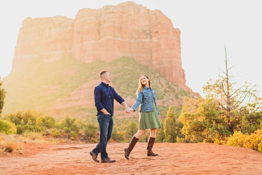 Katie and Matt: Arizona Portrait Photographers scenic locations