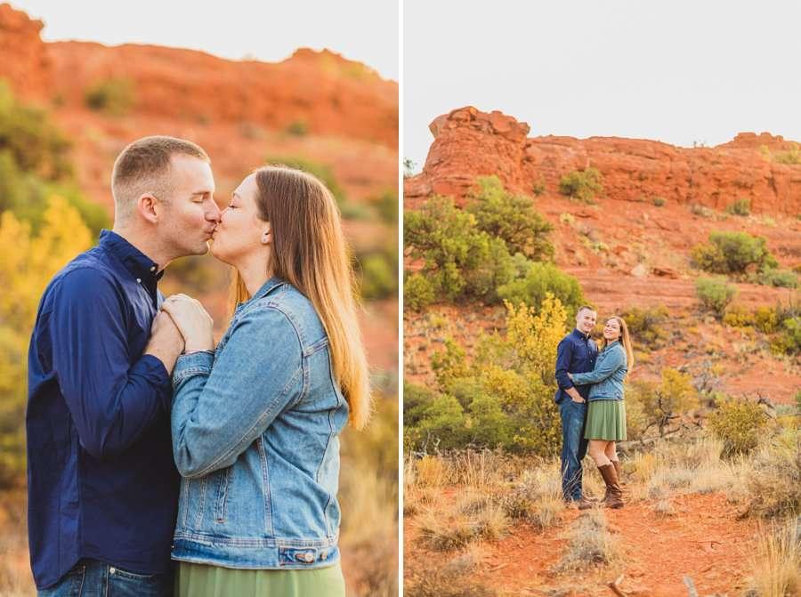 Katie and Matt: Sedona Arizona Engagement Session intimate poses for couples