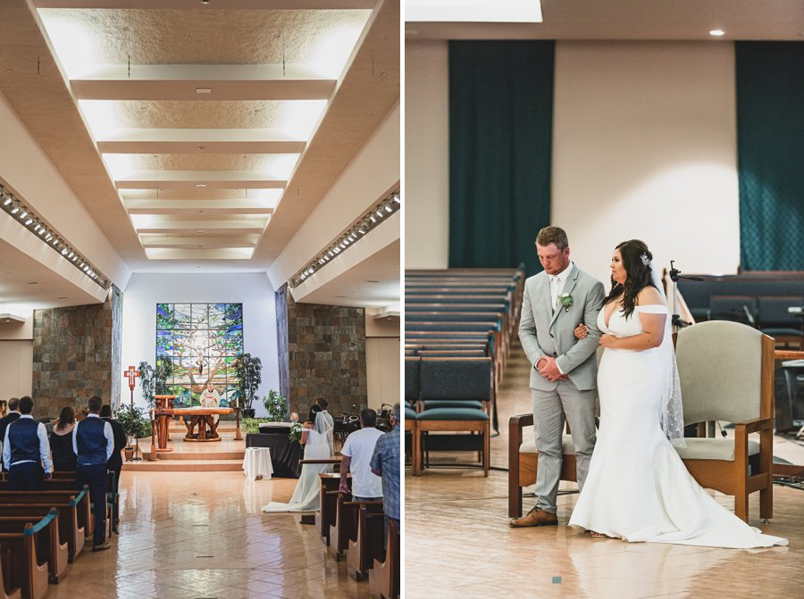Leah and Trenten: Scottsdale Elopement Photographers in the church