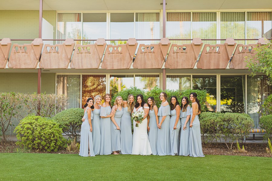 Leah and Trenten: Scottsdale Elopement Photographers bridal party girls poses