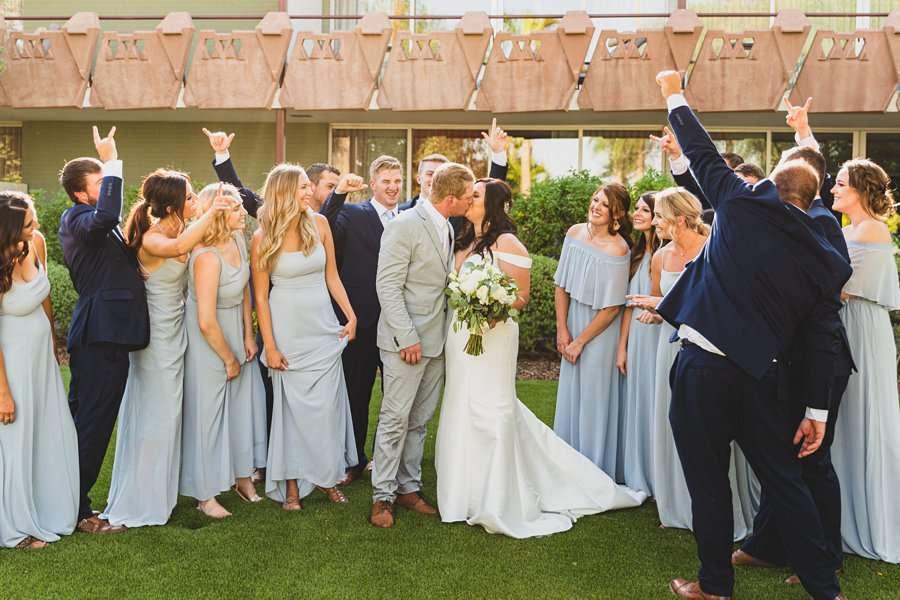 Leah and Trenten: Scottsdale Elopement Photographers the couple kissing