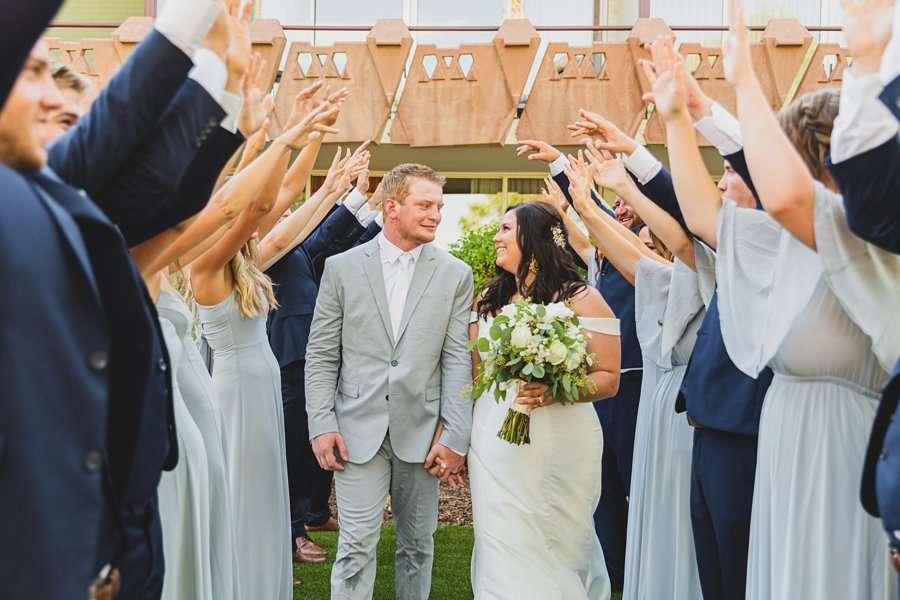 Leah and Trenten: Scottsdale Elopement Photographers fun wedding party ideas