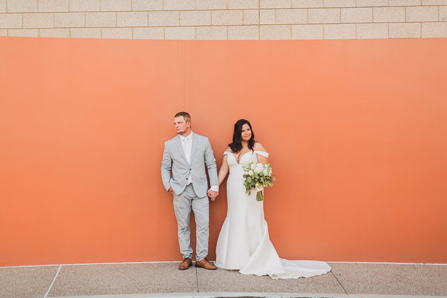 Leah and Trenten: Scottsdale Elopement Photographers colorful arizona weddings
