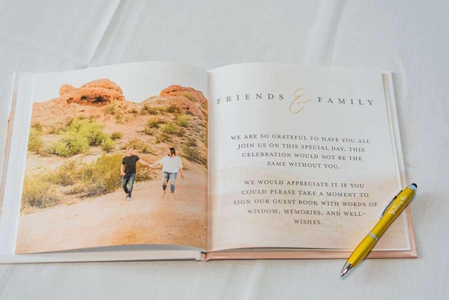 Leah and Trenten: Scottsdale Elopement Photographers guest book