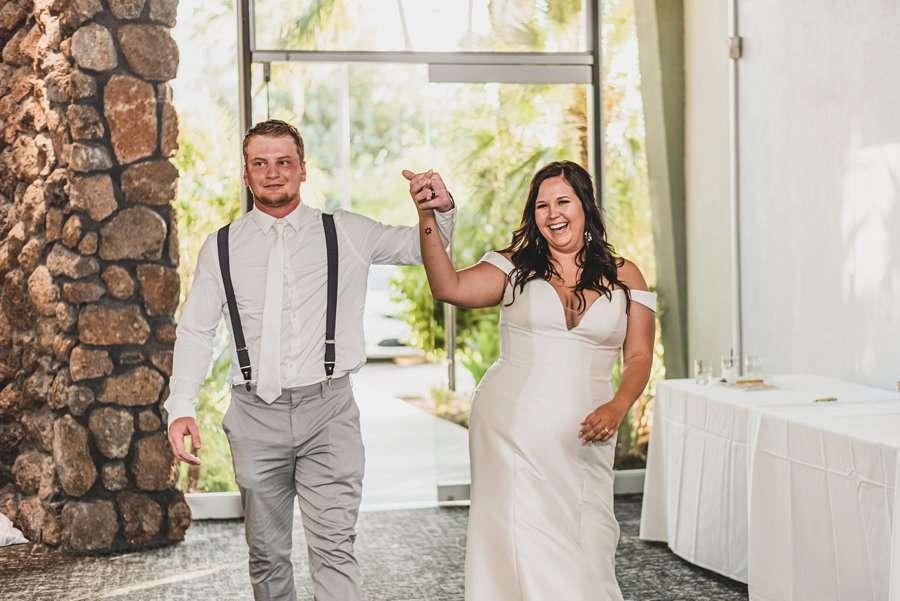 Leah and Trenten: Scottsdale Elopement Photographers grand entrance