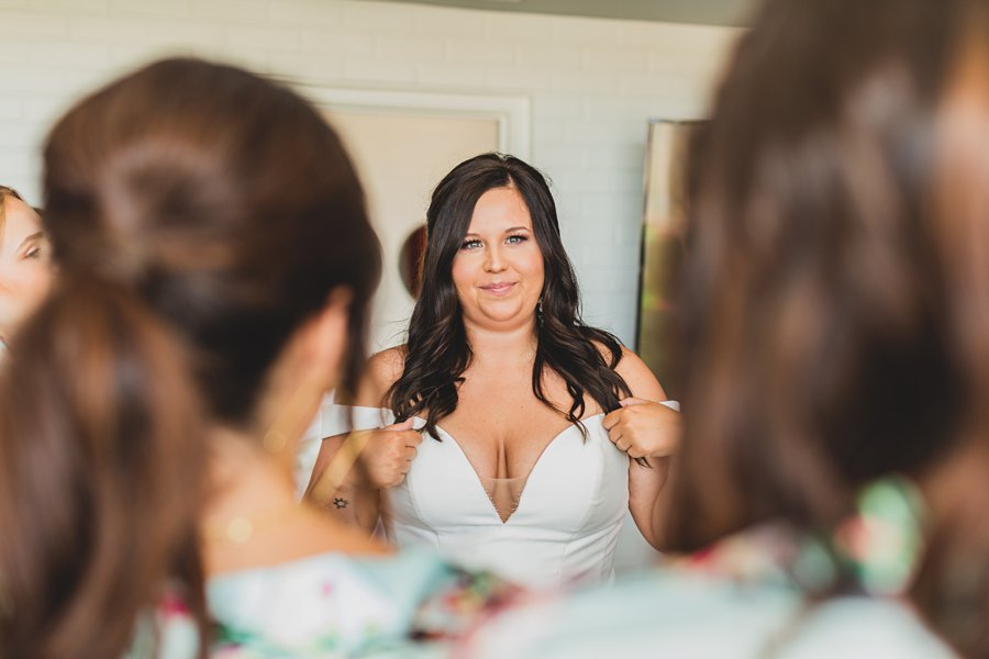 Leah and Trenten: Hotel Valley Ho Scottsdale Wedding first look with bridal party