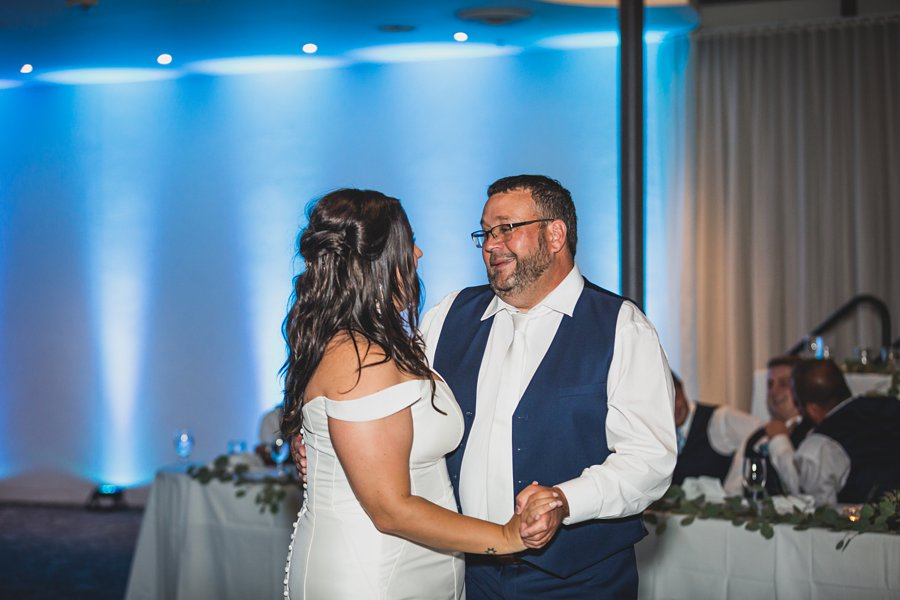 Leah and Trenten: Scottsdale Elopement Photographers father daughter dance
