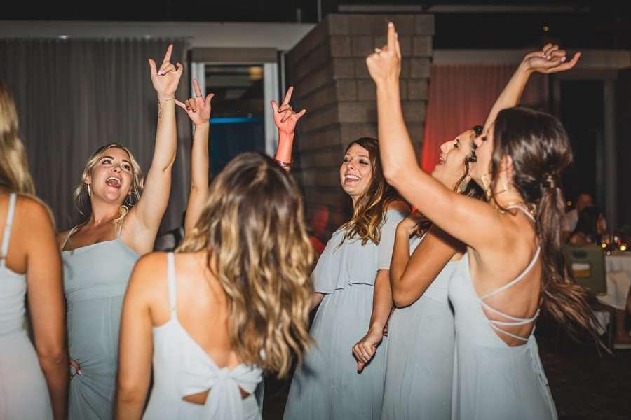 Leah and Trenten: Scottsdale Elopement Photographers fun dancing shots reception