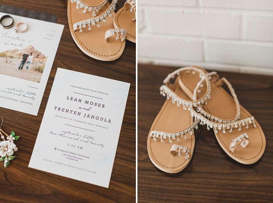 Leah and Trenten: Hotel Valley Ho Scottsdale Wedding bridal elopement invites