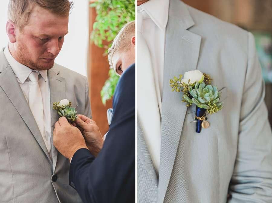 Leah and Trenten: Hotel Valley Ho Scottsdale Wedding preparing groom